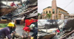 Rev Ernest Bruce Methodist Church at Adabraka collapses killing 2 members (video) 2