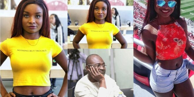 Kennedy Agyapong's Daugther Anell sets the internet ablaze with half N@ak3d photos 1