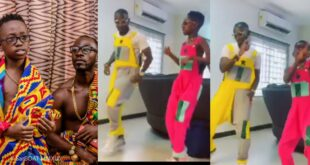 Watch as Okyeame Kwame's Son teaches him how to dance in a new video 54