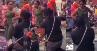 Lady embarrasses and slaps boyfriend for proposing to her in a market - Video 19