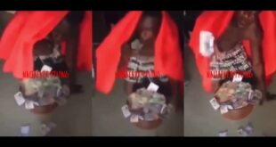 Young man vomits money after doing money ritual (video) 8