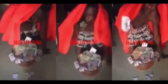 Young man vomits money after doing money ritual (video) 1