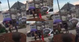 2 Sakawa boys bath in the middle of the road as a native doctor performs rituals on them - Video 18