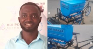 Meet Frank Darko, the Ghanaian inventor who builds a bicycle that sweeps and collects rubbish - Photos 13