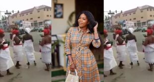 Mzbel finally react after Ga Traditional Women stormed the street to curse her - Video 11