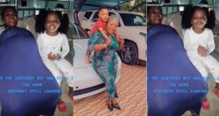 Rev Obofour's wife shares pregnancy video of herself to celebrate the birthday of her son. (video) 9