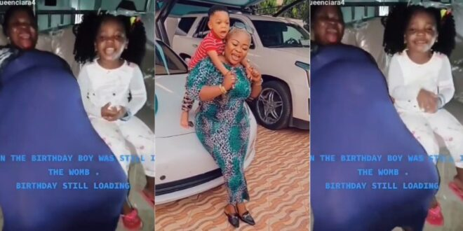 Rev Obofour's wife shares pregnancy video of herself to celebrate the birthday of her son. (video) 1
