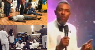 """If you fall under the anointing and break anything you will pay""- Pastor warns his church members 6"
