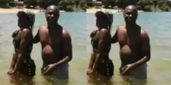 Catholic Church suspends Father after he was seen partying with a lady nak3d at the beach (photo) 1