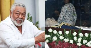 EXCLUSIVE Photos Of Late Jerry John Rawlings In A Casket 18