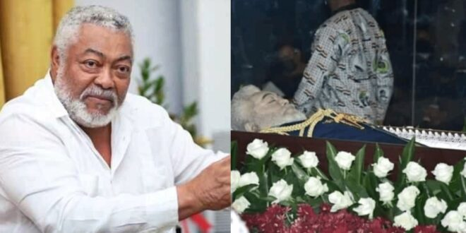 EXCLUSIVE Photos Of Late Jerry John Rawlings In A Casket 1