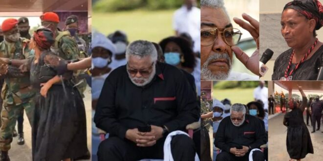 First Daugther of Rawlings Abigail Fights with soldiers as she is denied access from seeing her father's body (video) 1
