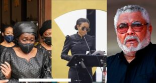 Watch as Rawlings daughter Amina Agyeman Rawlings reads Mother's tribute - Video 11