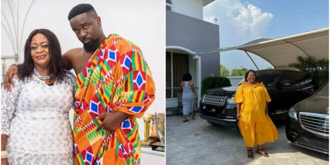 Sarkodie gifts his mother with a mansion, Range Rover, and Benz (photo). 1
