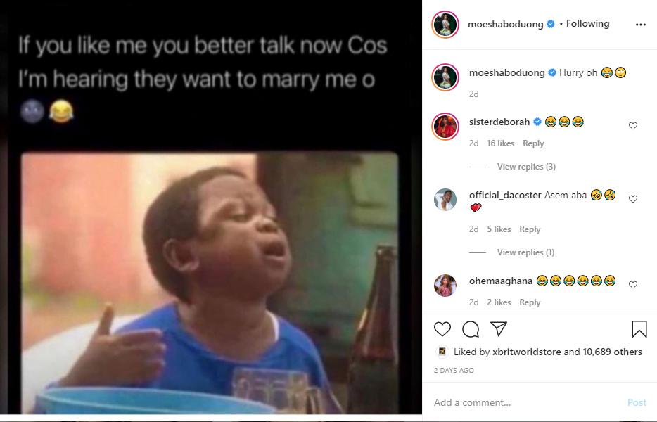 Moesha Boduong Announces She Is Getting Married Very Soon