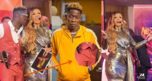 Shatta Wale 'jacks' on stage while holding beautiful Serwaa Amihere - Video 10