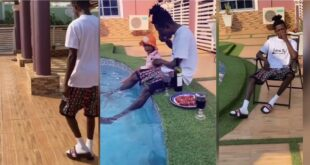 Strongman visits his rich in-laws with his wife and baby girl. 12