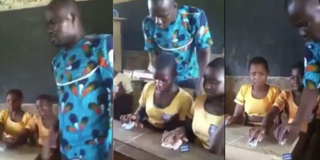 Sad Video of a Teacher using stones as a mouse to teach ICT in class surfaces 1