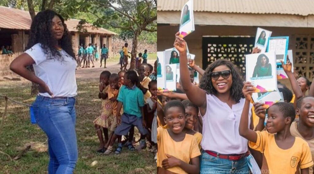 Afia Pokua donates learning materials to children in Village as school re-opens - Photos 2