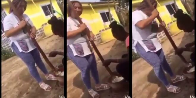 Video of patapaa teaching his wife how to pound fufu surfaces online (video) 1