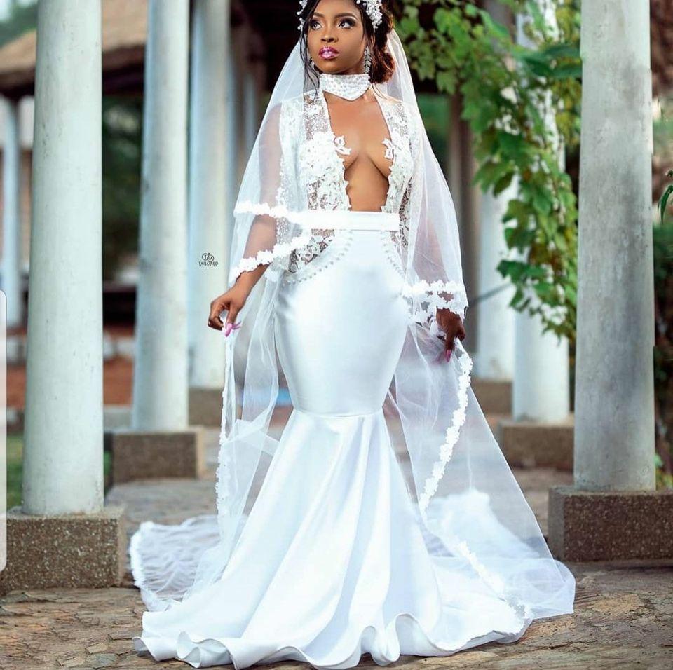 Social media goes Crazy over the wedding gown of a bride (photos) 5