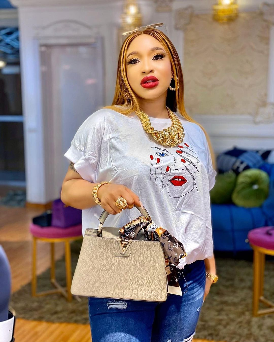 Churchill teases Tonto Dikeh as he shares lovely moments with his new lover, Rosy - Photos 2