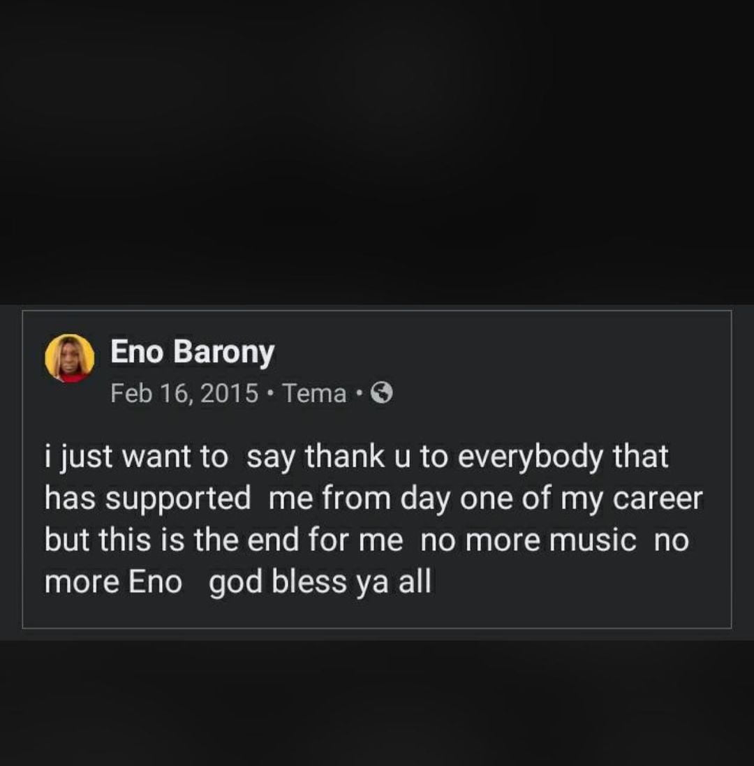 Eno Barony shares a sad story of her life on how she almost quit her career in 2015 3