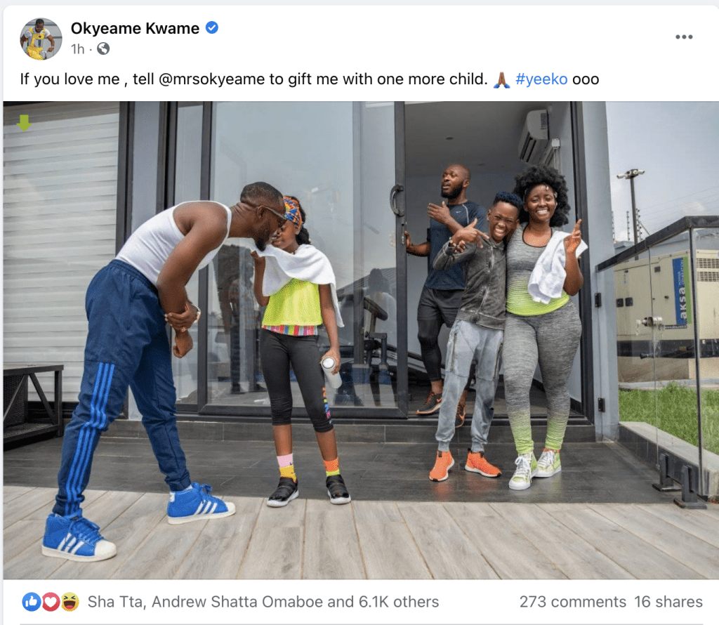 Okyeame Kwame pleads with his wife to give him another child - Photos 3