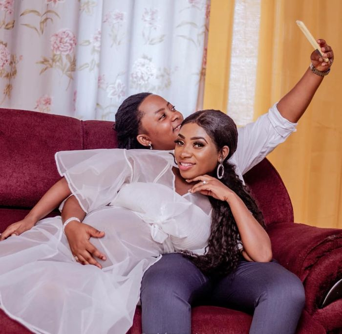 Ghanaian Lesbi@n Couple Flaunts baby Bump as they wait for their first child (photos) 5