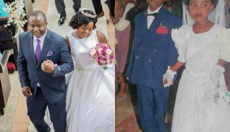 Couple finally marries after dating since class 2 - Photos 2