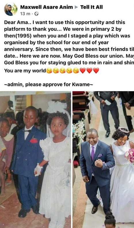 Couple finally marries after dating since class 2 - Photos 3