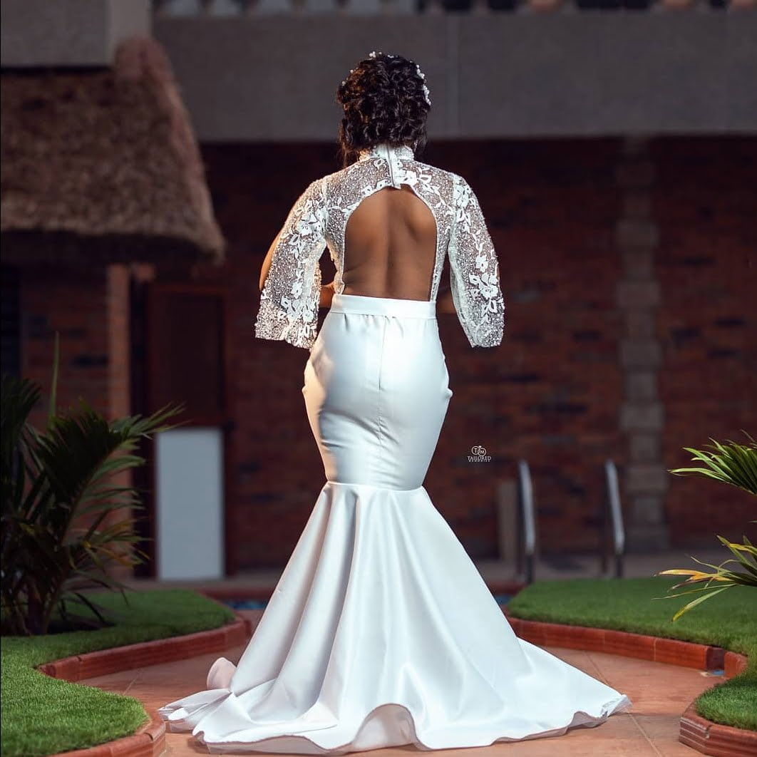 Social media goes Crazy over the wedding gown of a bride (photos) 3