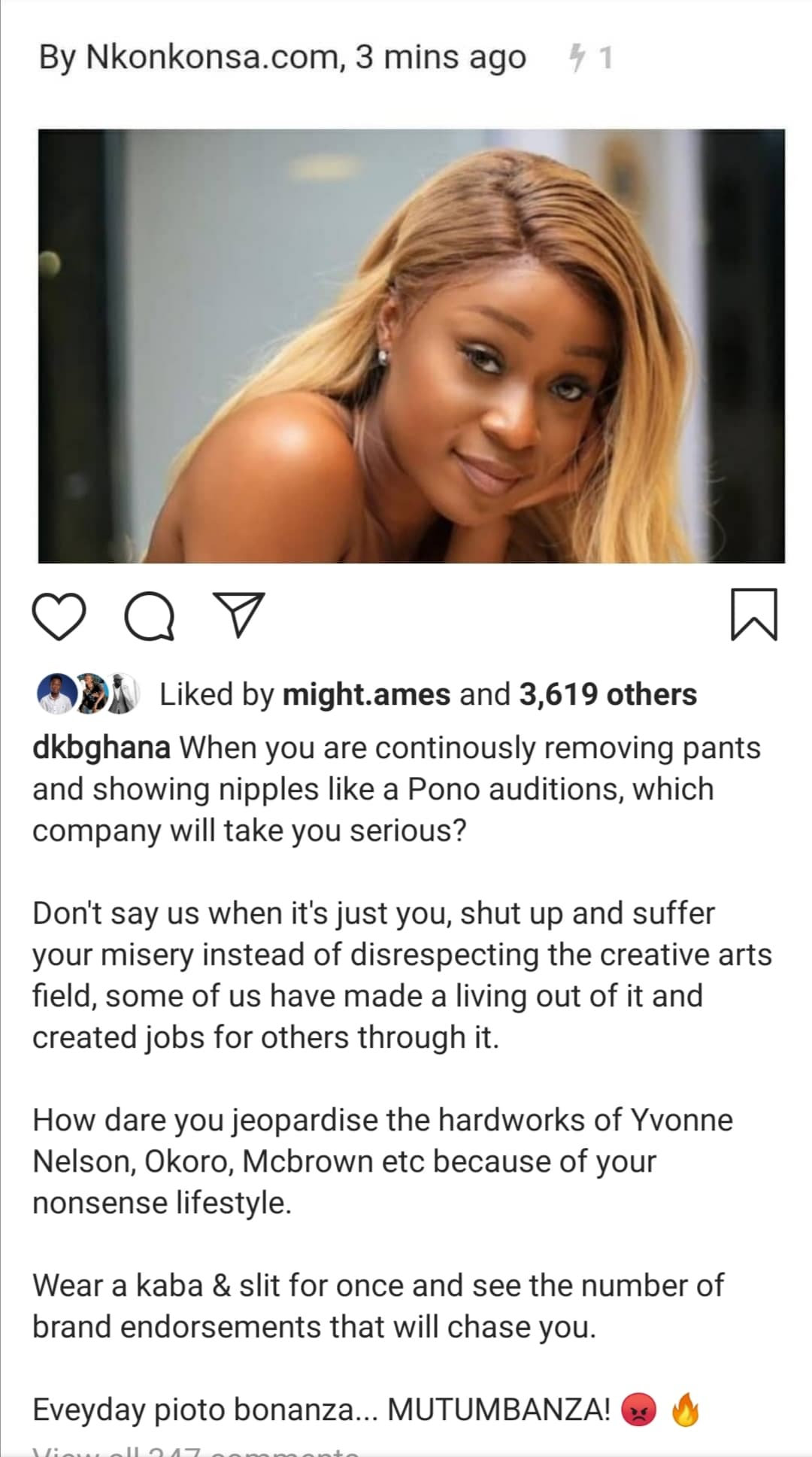 DKB begs Efia Odo not to remove her dross again 2