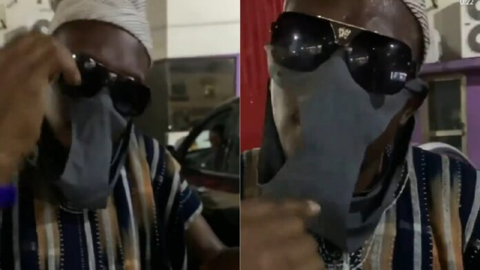 Counsellor Lutterodt spotted wearing his wife's pants as nose mask in a new video 2