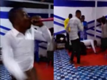 Ghanaian pastor suddenly d!es while leading a prophetic session in church - Video 2