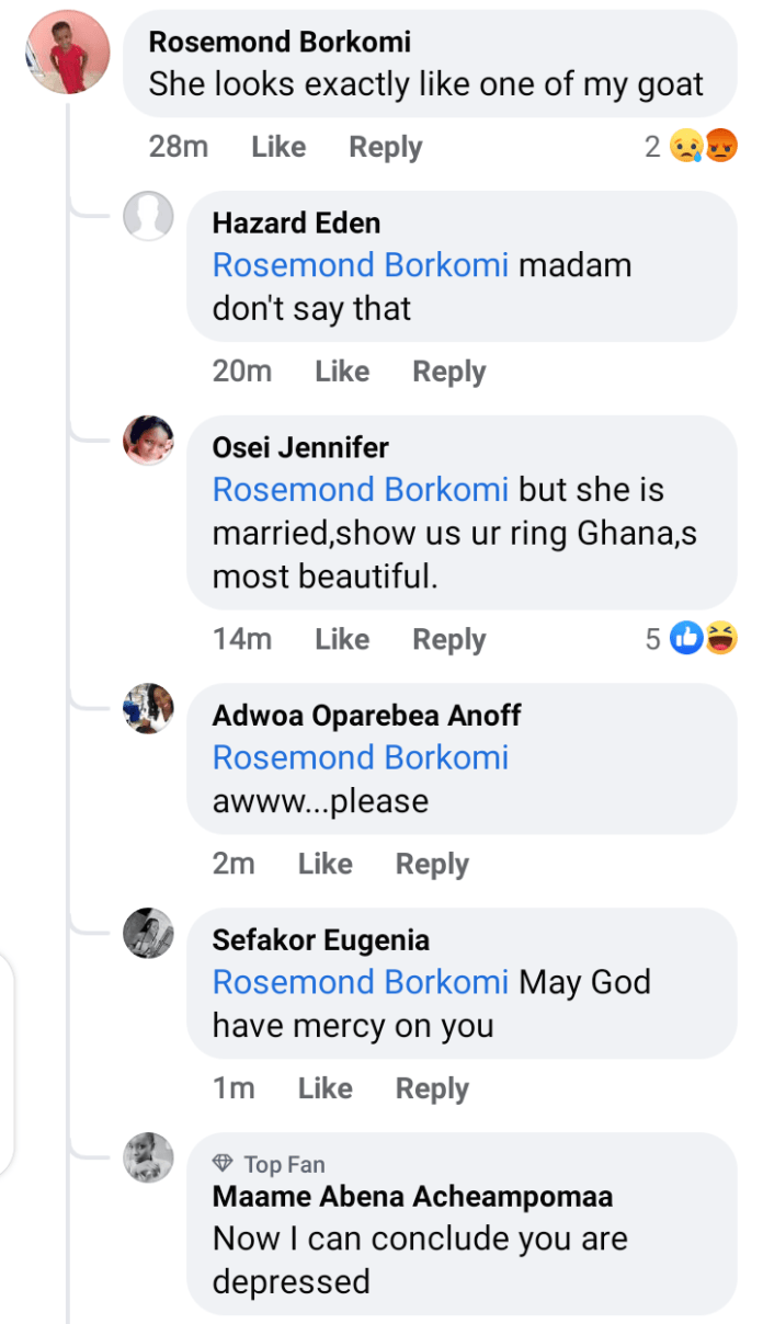 Netizens 'tear up' a lady who says Koo Ofori's Daughter, Asantewaa Looks Like An Ugly Goat 4