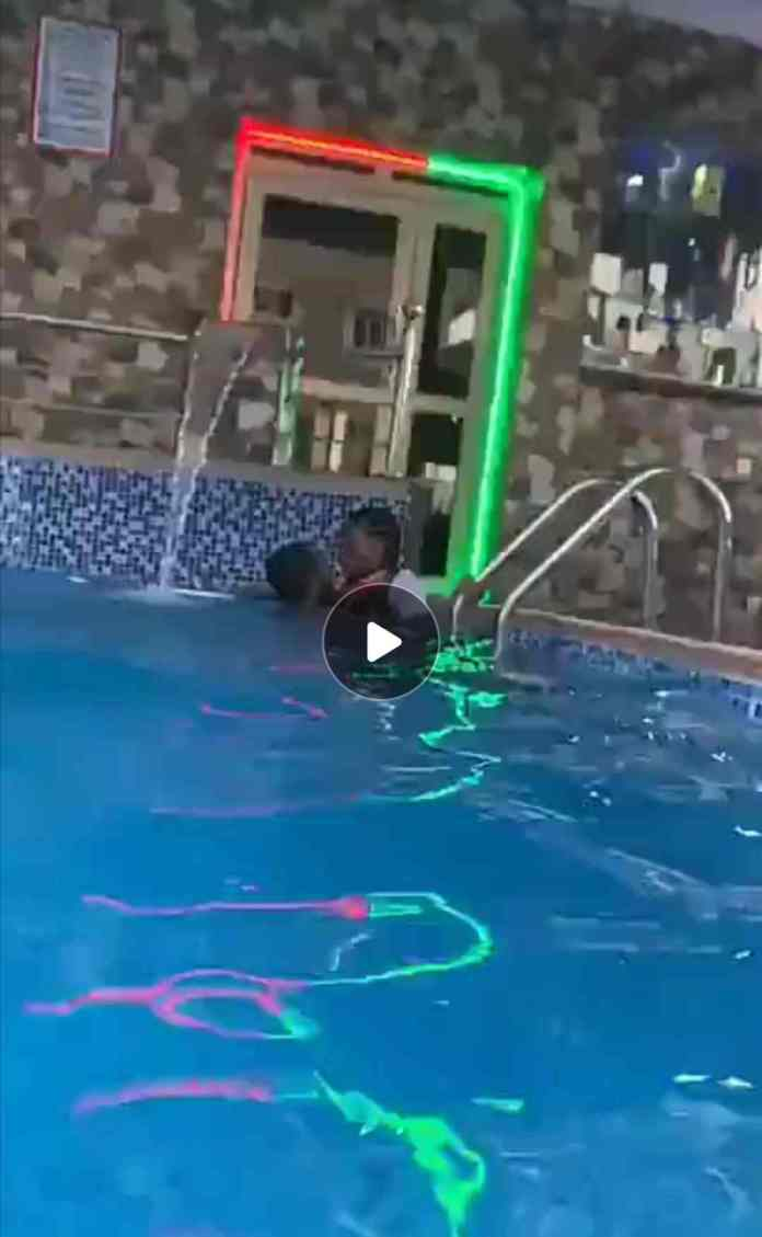 Video of Slay queen been ch0pped in a pool goes viral online 2