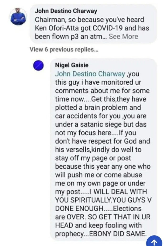 You will die like Ebony - Prophet Nigel Gaisie curses his follower for this reason 2