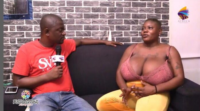 I have slept with 20 men in only January - Lady with heavy b0()bs reveals - Video 2