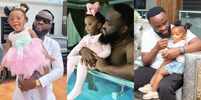 Baby maxin shares adorable moments with her father in new photos. 1