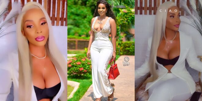 Benedicta Gafah displays her rounded and juicy bo()bs in new video 1