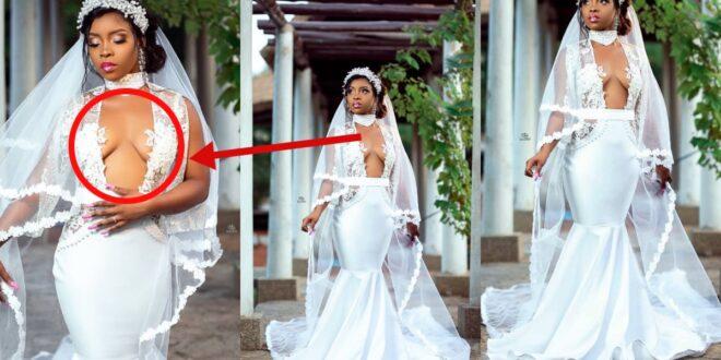 Social media goes Crazy over the wedding gown of a bride (photos) 1