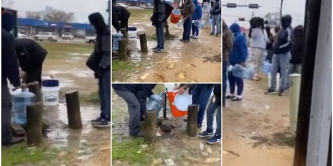 24/7 the system is working?? No where cool as Americans que up just to fetch water (video) 1