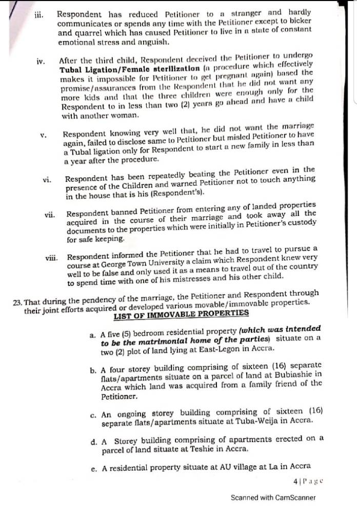 List of properties allegedly owned by Eugene Arhin just within 4 years as the Communications Director at the presidency 2