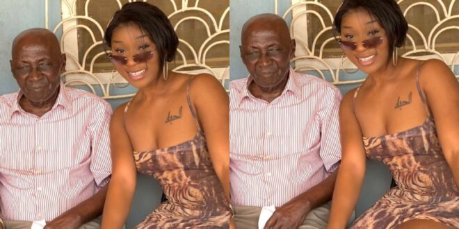 Efia Odo's loses her grandfather, The last words from the old man about Efia will shock you (video) 1