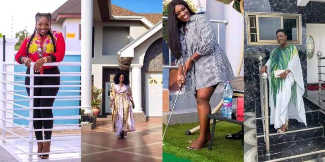 Emelia Brobbey flaunts her million dollar Mansion on social media (photos) 1