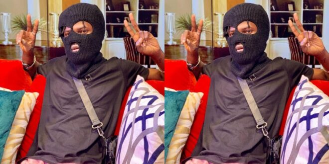 Social media drags Fameye for wearing robber's disguise as a nose mask on United showbiz. 1