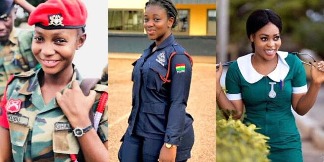 pictures of Beautiful Ghanaian Nurses, Police, and Military women. 1