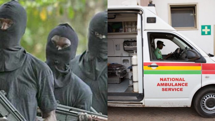 Armed Robbers attack ambulance with woman in labor in Somanya