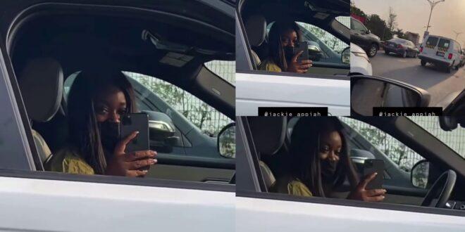 Jackie Appiah Cruises in her new Range Rover 2020 Velar (video) 1